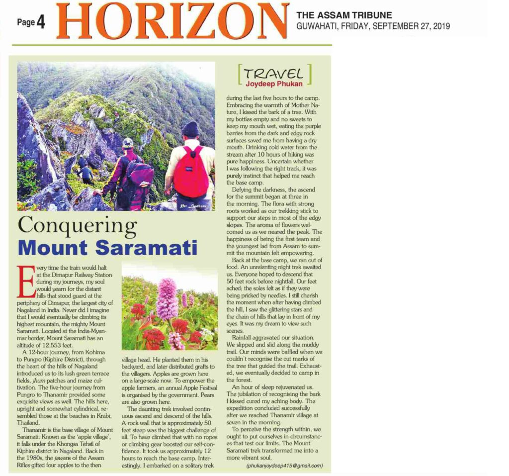 Saramati peak trek, The Gypsy Chiring