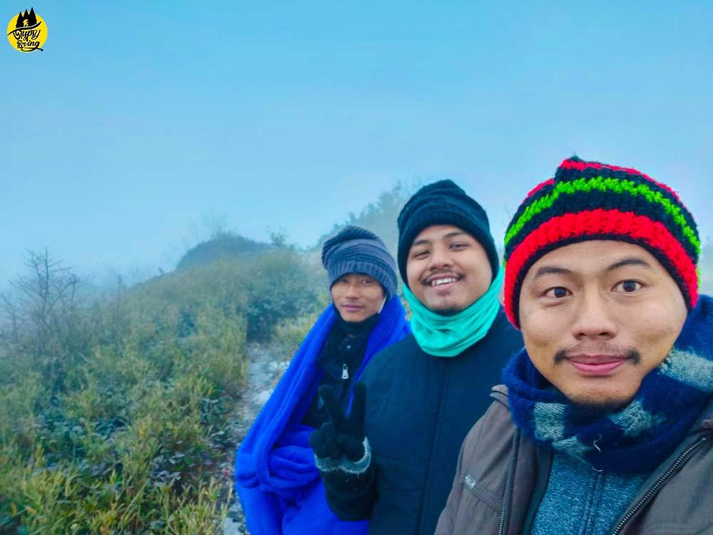 Mt. Japfu with friends