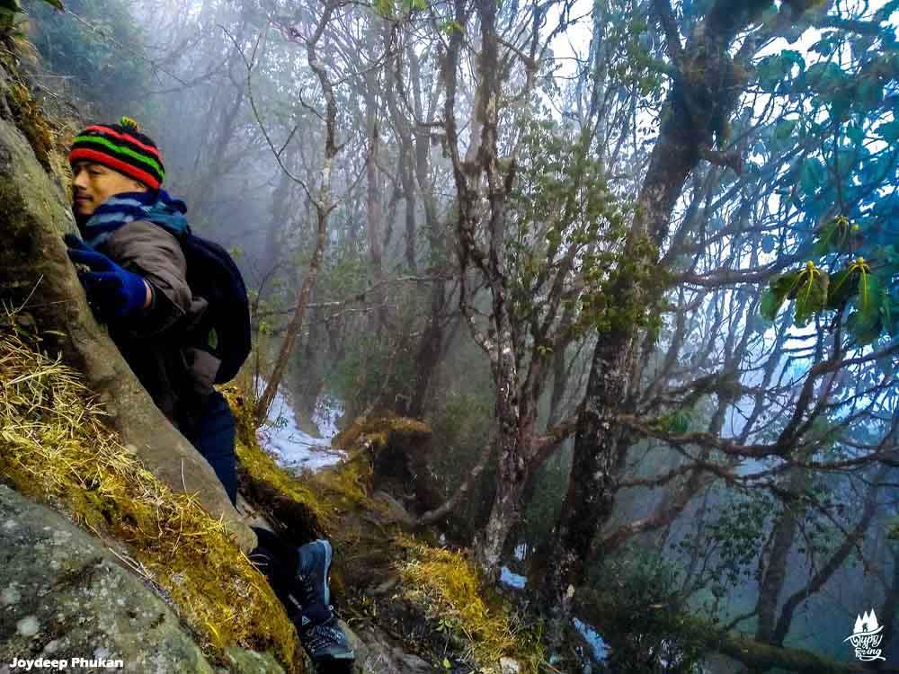 Rock climbing in Mt. Japfu