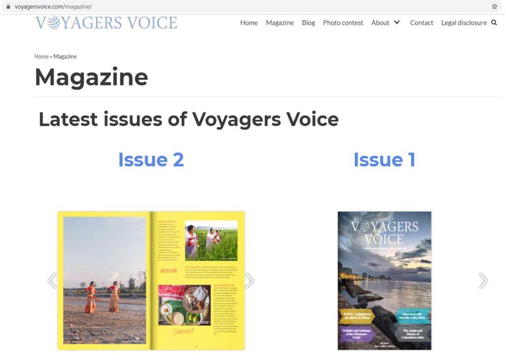 Bihu, Voyagers Voice Magazine